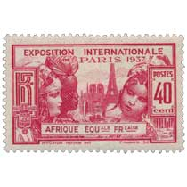 1937 Exposition internationale de Paris AFRIQUE EQUale FRçaise