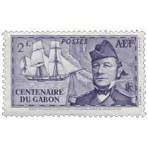 Centenaire du Gabon Bouet-Willaumez commandant la Malouine aborde au Gabon en 1839