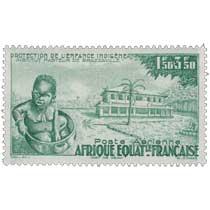 Protection de l'enfance indigène Institut pasteur de Brazzaville Afrique Équatoriale Française