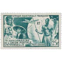 75ème anniversaire de l'Union Postale Universelle poste aérienne