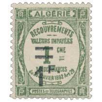 Algérie - Type Recouvrements