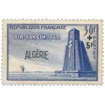 Algérie - 10° anniversaire de la bataille de Bir-Hakeim