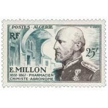 Algérie -  E Millon 1812 - 1867 Pharmacien chimiste agronome