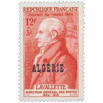 Algérie - JOURNÉE DU TIMBRE 1954 LAVALETTE DIRECTEUR GÉNÉRAL DES POSTES 1804-1815