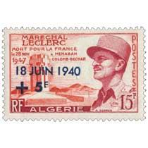 Algérie - Maréchal Leclerc mort pour la France
