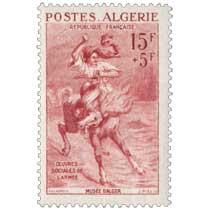 Algérie - Cavalier passant un gué, par Delacroix