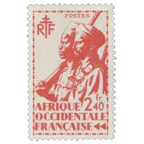 Afrique Occidentale Française - type tirailleur Sénégalais et cavalier Maure