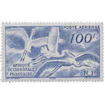 Afrique Occidentale Française - Cigognes en vol