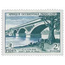 Afrique Occidentale Française - F.I.D.E.S. - Pont sur le Milo Guinée