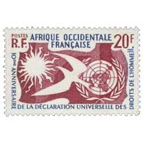 Afrique Occidentale Française - 10ème anniversaire de la déclaration universelle des droits de l'homme