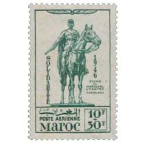 1946 Maroc - Statue du Maréchal Lyautey - Casablanca