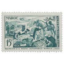 1954 Maroc - Relais de la Poste automobile rurale