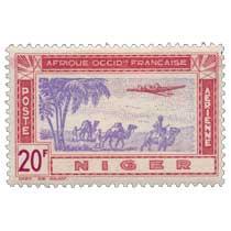 Niger - Avion et caravane
