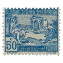 Tunisie - Ruines du Capitole du Dougga. Joueur de pipeau