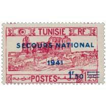 Tunisie - type Amphithéâtre d'El Djem surchargé Secours national