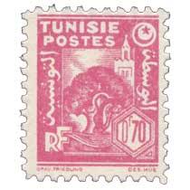 Tunisie - Olivier et mosquée
