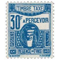 Tunisie - Régence de Tunis chiffre taxe à percevoir