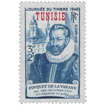 Tunisie - JOURNÉE DU TIMBRE 1946 FOUQUET DE LA VARANE vers 1598, met la poste d'État à la disposition du public