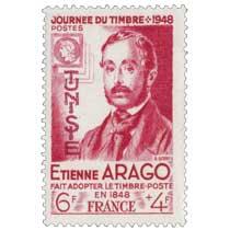 Tunisie - Journée du timbre E. Arago fait adopter le timbre poste en 1848