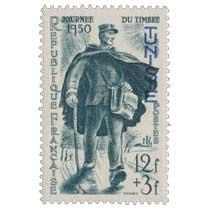 Tunisie - Journée du timbre 1950 . Facteur