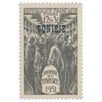 Tunisie - Journée du timbre 1951. Wagon-poste