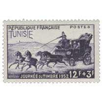 Tunisie - Journée du timbre 1952. Malle-poste
