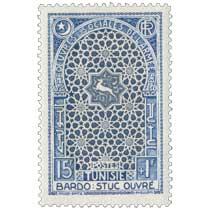 Tunisie - Bardo  stuc ouvré