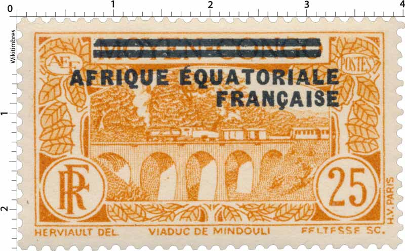 Viaduc de Mindouli moyen Congo Afrique Équatoriale Française