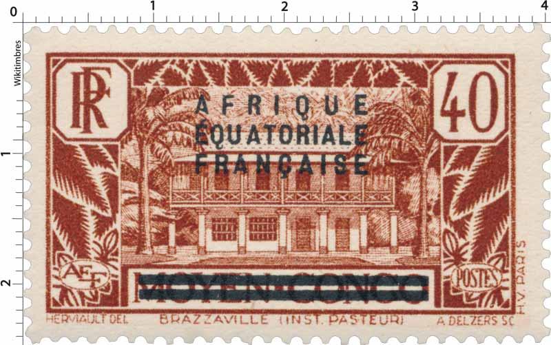 Brazzaville Inst. Pasteur moyen Congo Afrique Équatoriale Française