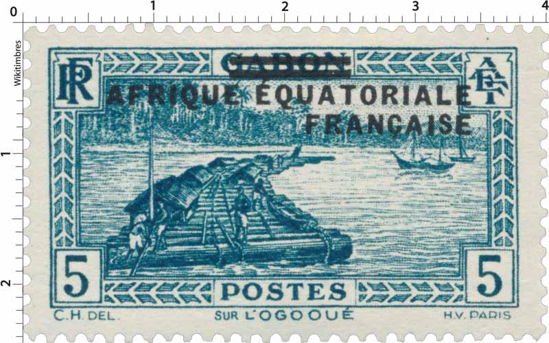 Gabon Sur l' Ogooué Afrique Équatoriale Française