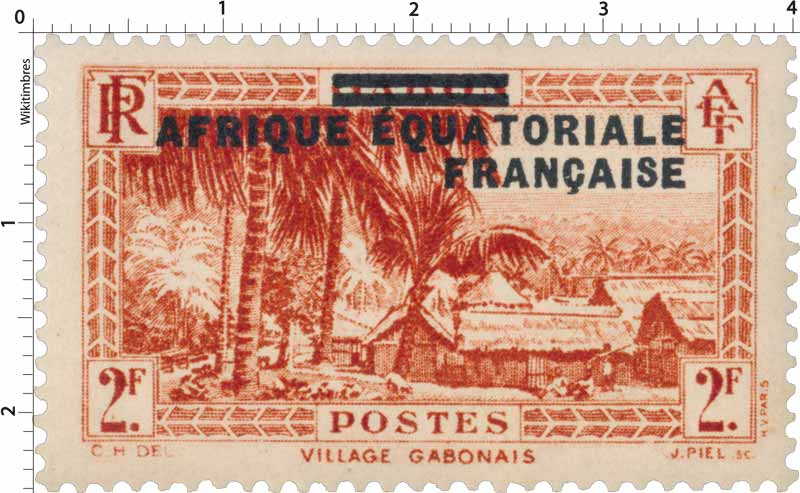Gabon village gabonais Afrique Équatoriale Française