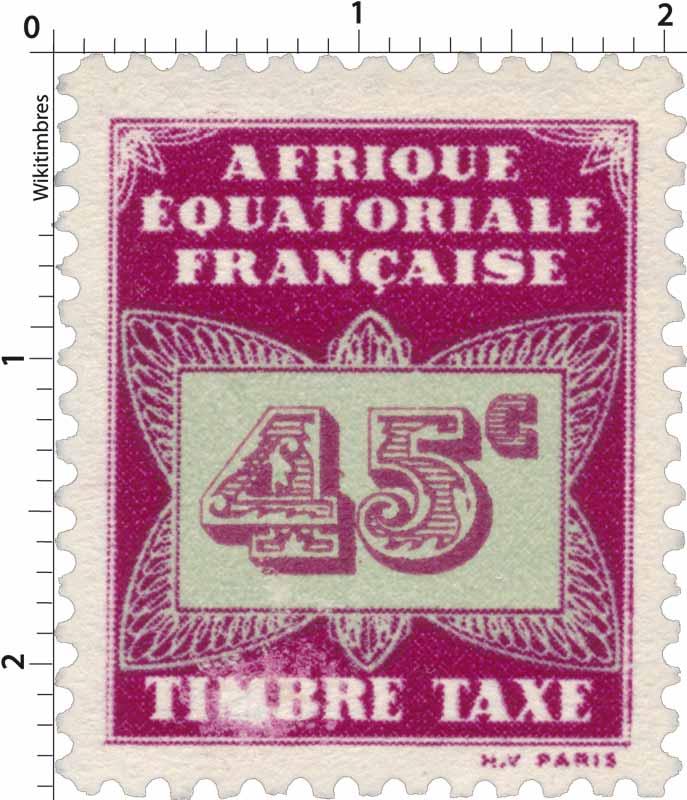 Timbre taxe Afrique Équatoriale Française