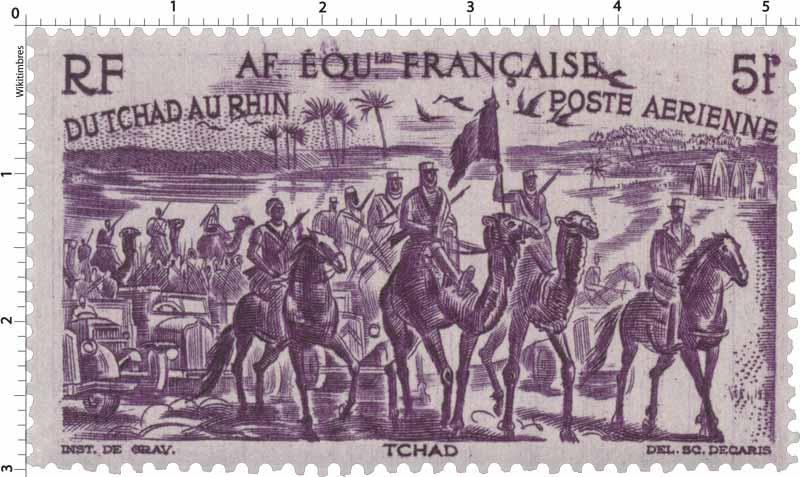 Du Tchad au Rhin Tchad poste aérienne