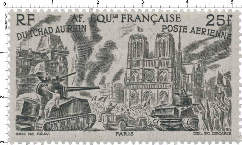 Du Tchad au Rhin Paris poste aérienne