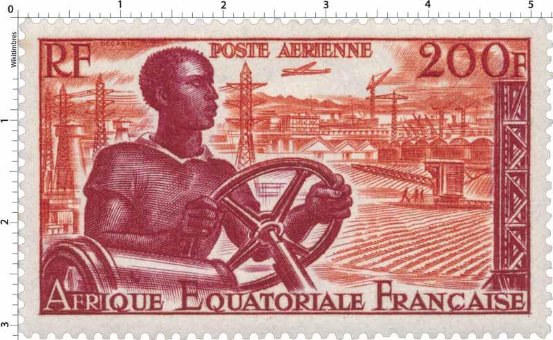 Afrique Équatoriale Française poste aérienne