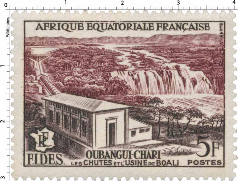 Oubangui-Chari les chutes de l usine de Boali F.I.D.S