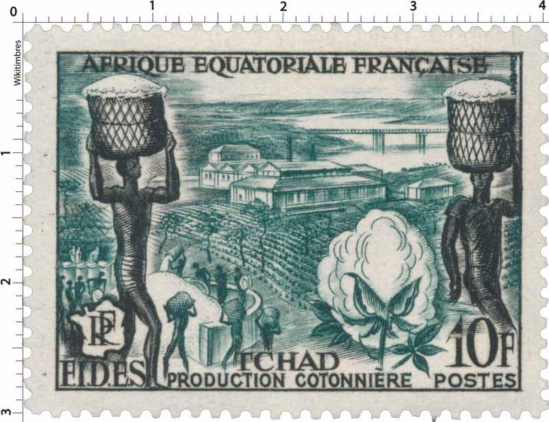 Tchad Production cotonnière Afrique Équatoriale Française F.I.D.E.S