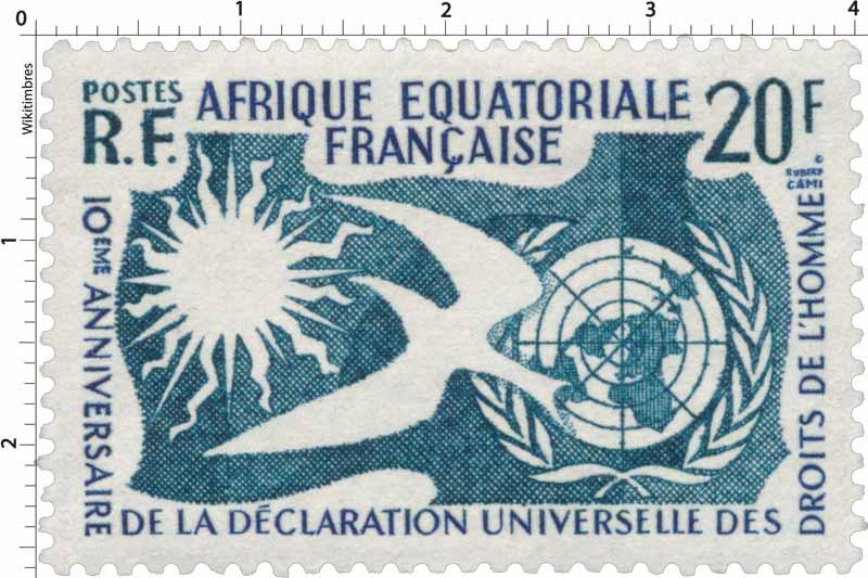 10ème anniversaire de la Déclaration universelle des Droits de l'Homme