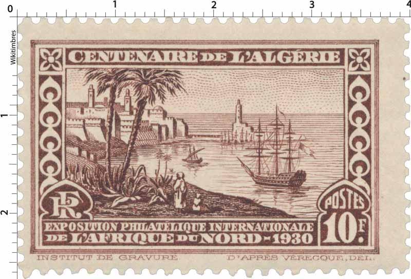 Algérie - Centenaire de l'Algérie exposition philatélique internationale de l'Afrique du nord 1930