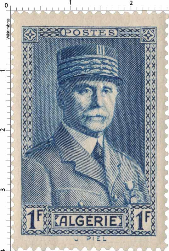 Algérie - Effigie du Maréchal Pétain