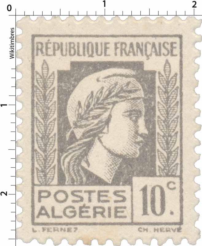 Algérie - Type Marianne d'Alger
