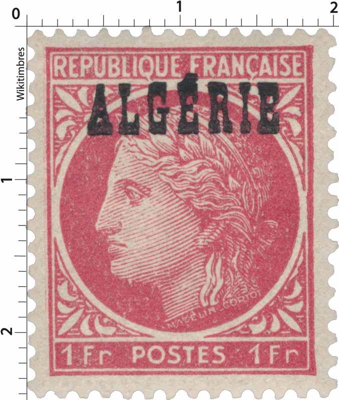 Algérie - Type Cérès de Mazelin