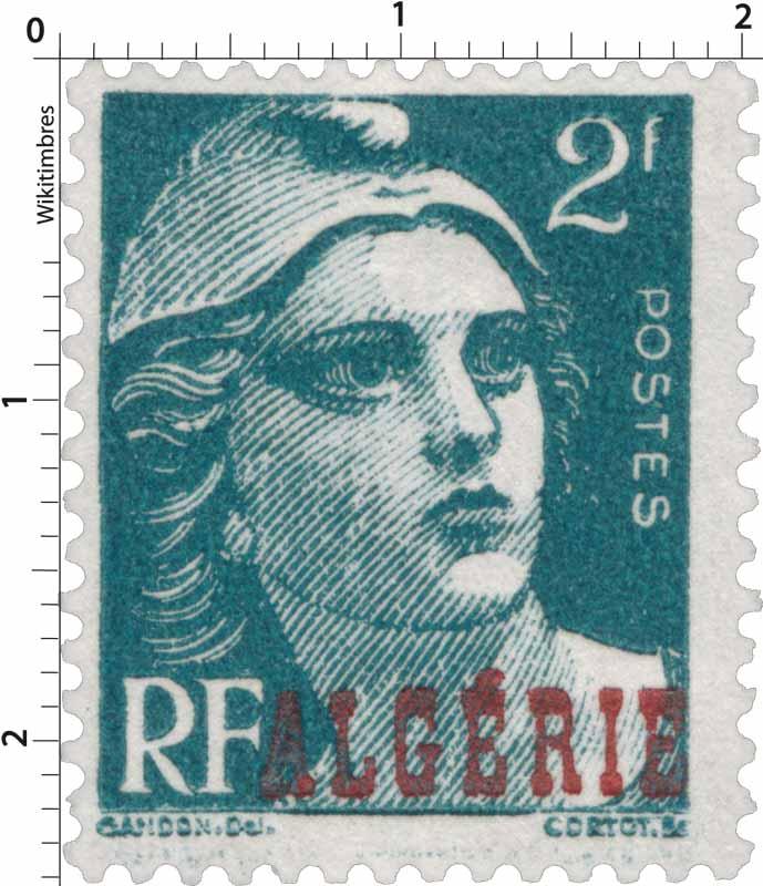 Algérie - Type Marianne, de Gandon
