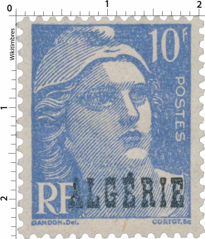 Algérie - Marianne, de Gandon