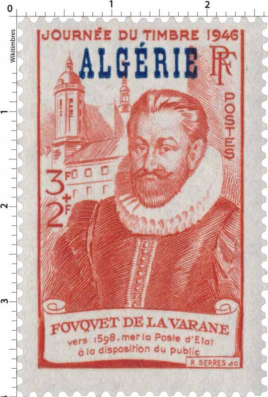 Algérie - Journée du timbre 1946 Fouquet de La Varane