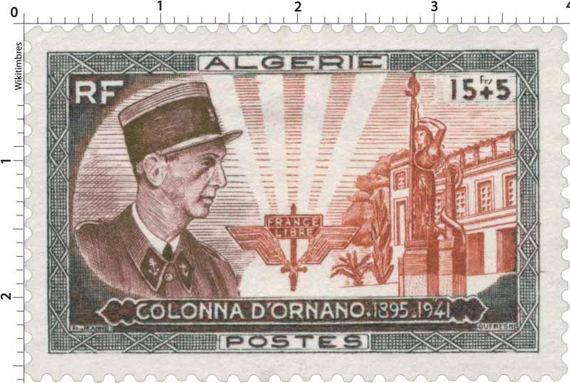 Algérie - Colonel Colonna d'Ornano