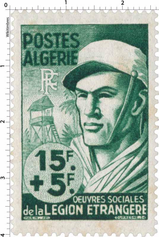 Algérie - Au profit des oeuvres de la Légion étrangère