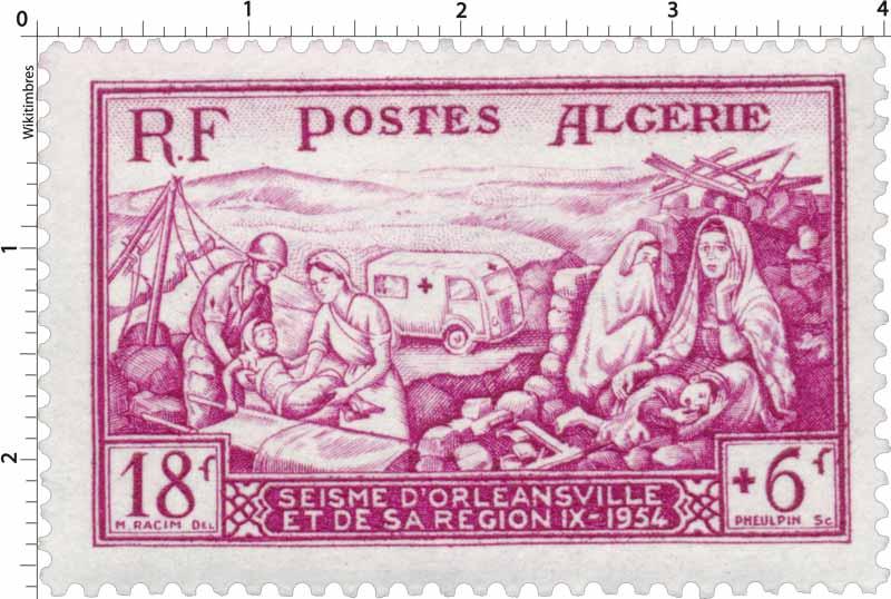 Algérie - Séisme d'Orléansville et de sa région 1954