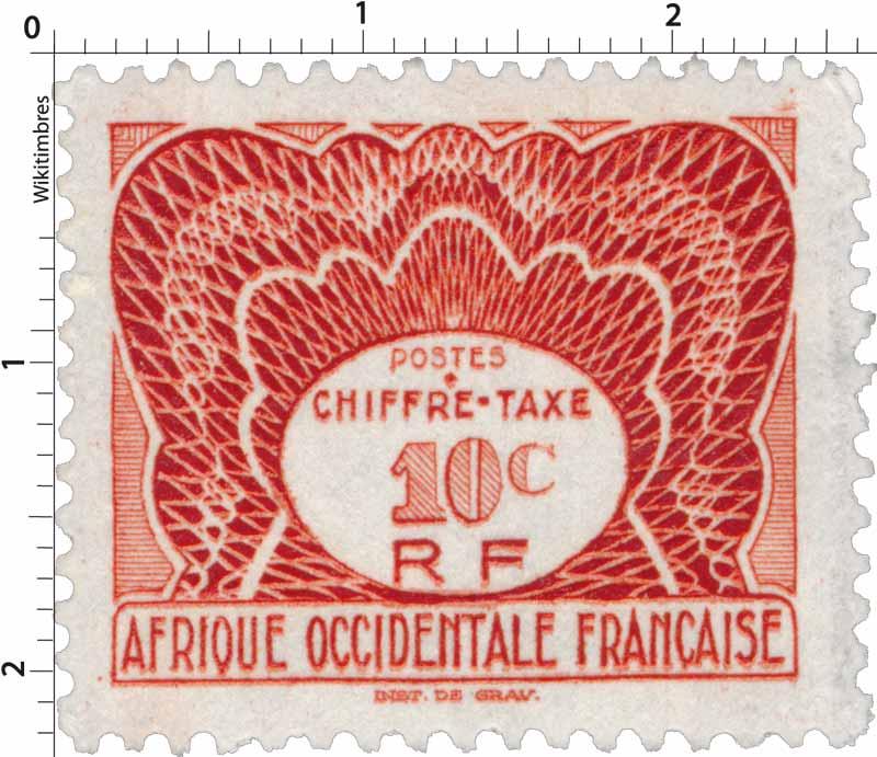 Afrique Occidentale Française  Chiffre Taxe