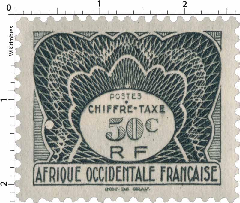 Afrique Occidentale Française - Chiffre Taxe